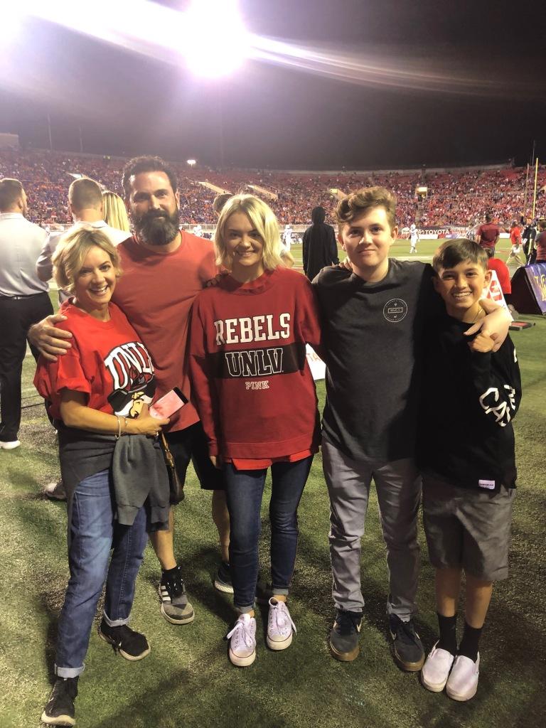Senior Hospitality student Mackenzie and her family, the Honorary Rebel Family for 2019.